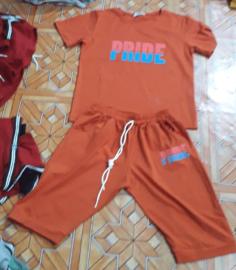 may áo thun cổ tròn Pride màu cam